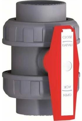 Mega Pool Nozbart Havuz Pvc Küresel Su Vanası D.75 mm Yapıştırmalı