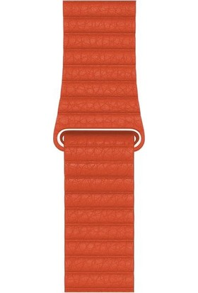 Minesk Apple Watch 1 2 3 4 5 6 Seri Deri Loop Kordon Kayış 38-40MM