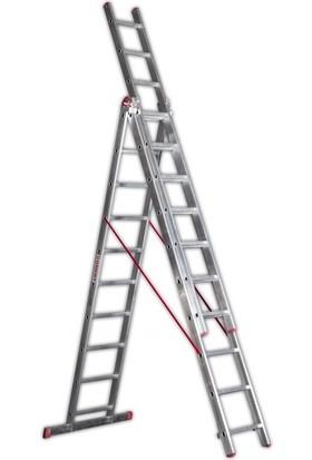 Cömert 3 Parçalı Sürgülü A Tipi Merdiven 3x3,5=10,5 mt Sat Tipi