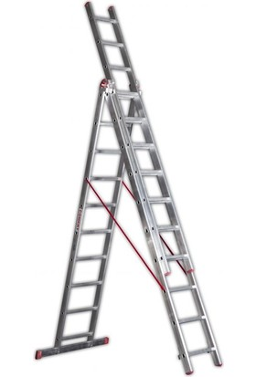 Cömert 3 Parçalı Sürgülü A Tipi Merdiven 3x2=6 mt Sat Tipi