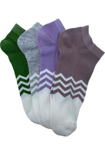 Belyy Socks 4'lü Kadın Patik Çorap