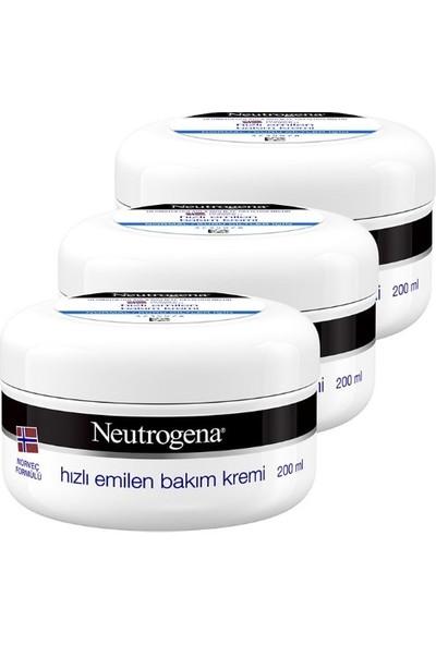 Neutrogena Norveç Formülü Hızlı Emilen Bakım Kremi 200 ml x 3 Adet