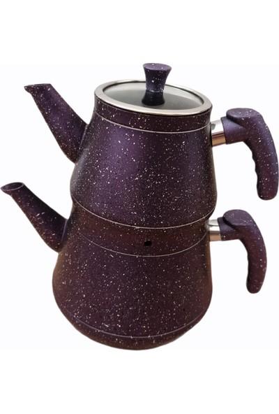 Aras Cook Arascook Granit Mor Çaydanlık