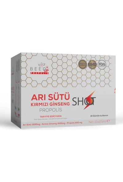 Bee'o Up Arı Sütü Kırmızı Ginseng Propolis Shot 15X25ML