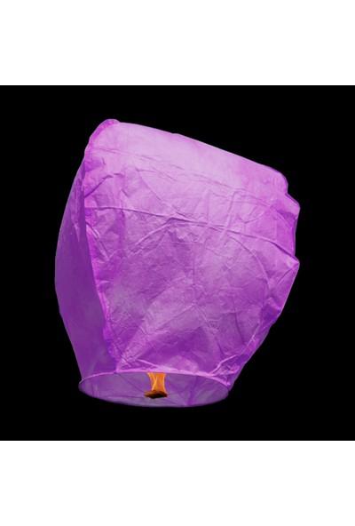 Süsle Bebek Parti Dilek Feneri Dilek Balonu Mor 3 Adet