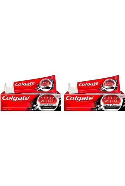 Colgate Optik Beyaz Aktif Kömür Beyazlatıcı Diş Macunu 75 ml x 2 Adet