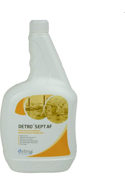 Detrox Sprey Yüzey Dezenfektanı 1lt Detro Sept Af