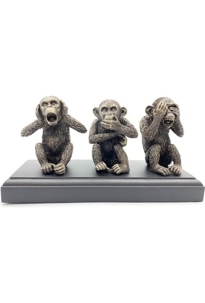 Wıse Uc Maymun ( 26 x 9,5 x 13 cm )