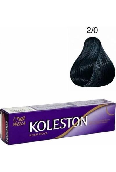 Wella Koleston Saç Boyası Tüp 3'lü Siyah 2.0