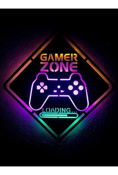 Dekoraven Gamer Zone LED Işıklı Tablo