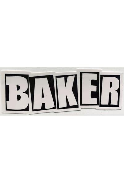 Baker 12CM x 4cm Tek Sticker