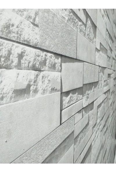 Oskar 3D Kesme Taş Desenli Duvar Kağıdı(5m2)