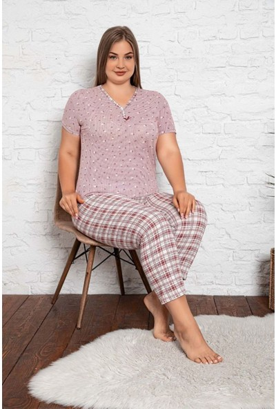 Rinda Bayan Battal Beden Pijama Takımı