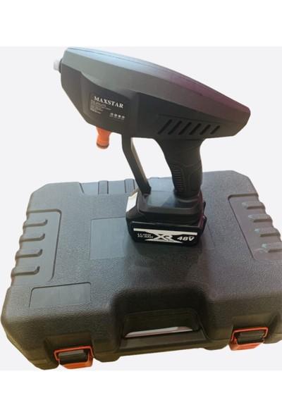 Maxstar Tools 48 V 10.0 Ah Lityum Akülü Kömürsüz Basınçlı Yıkama Makinesi Taşıma Çantalı