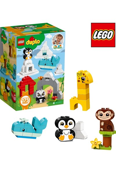 LEGO DUPLO 175 Parçalı Eğlenceli Hayvanlar ve Yaratıcı Parçalar Kutusu