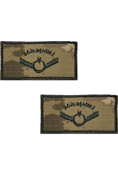 Seyhan Sözleşmeli Onbaşı Tişört Rütbesi 2 Adet ( Kara Kuvvetleri Yeni Kamuflaj )