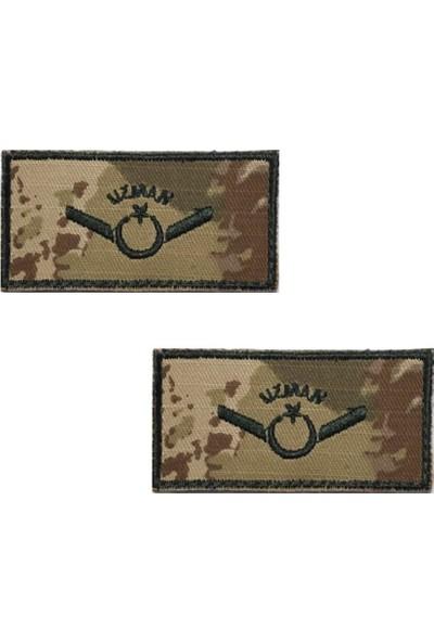 Seyhan Uzman Onbaşı Tişört Rütbesi 2 Adet ( Kara Kuvvetleri Yeni Kamuflaj )