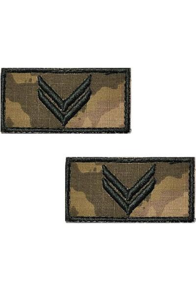 Seyhan Çavuş Tişört Rütbesi 2 Adet ( Kara Kuvvetleri Yeni Kamuflaj )