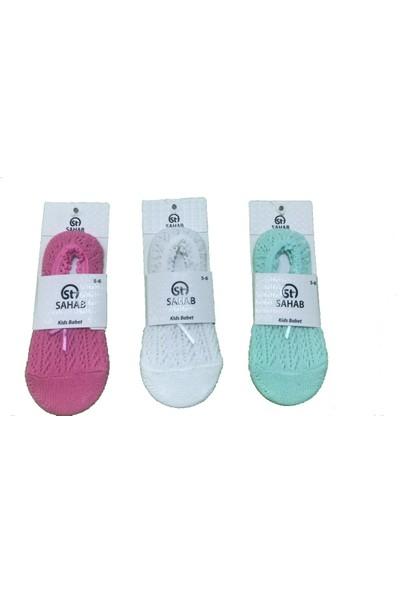 Sahab 3 Çift Çok Renkli Fileli Çocuk Babet Çorap