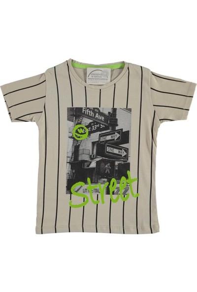 Barkod Kids 13-16 Yaş Street Baskılı T-Shirt - Kahverengi - 14 Yaş