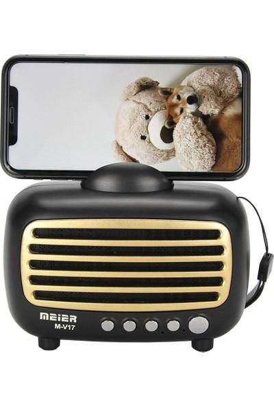 Meier M-V17BT Fm Radyo Taşınabilir Standlı Bluetooth Hoparlör Radyo Kanal Kayıtlı