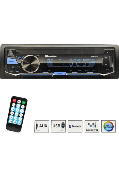 Roadstar Oto Teyp 4X50W Aux/usb/sd/fm Bluetooth Roadstar RDM-310BT Digicom