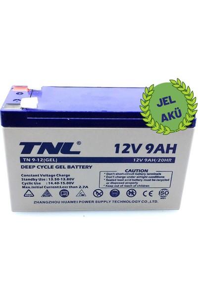 Tnl 12V 9AH Jel Tip AKÜ2020/08.AY Üretim Tarihi 1 Adet