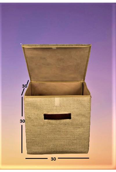 Rope Home Jüt Kapaklı Kutu 30X30X30