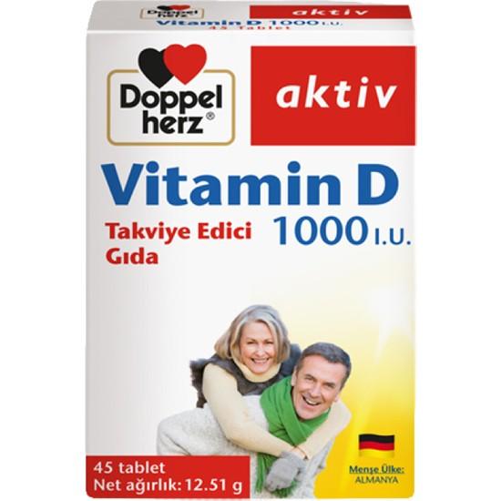 Doppelherz Vitamin D 1000 Iu 45 Tablet