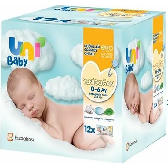 Unı Baby Yenidoğan 12'li Islak Mendil 480 Yaprak