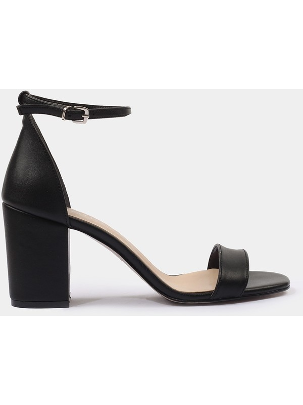 Hotiç 01SAH175140A100 Siyah Kadın Sandalet