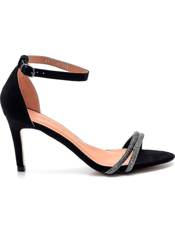 Kadın Taş Detaylı Topuklu Sandalet