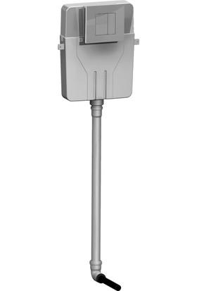 Sanica SAN85 Helataşı Gömme Rezervuar & Panel Takımı Mat Krom Boyalı P03 21 x 18 cm