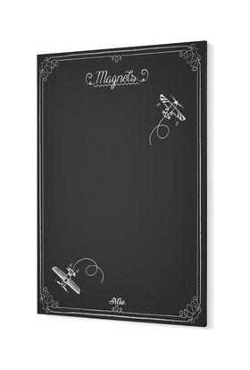 The Mia Magnet Panosu Siyah - 70 x 50 cm GLV0634