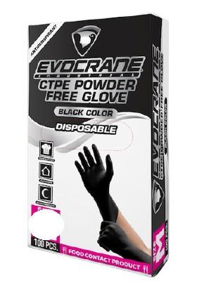 Crane Endüstriyel Yeni Nesil Hibrit Teknoloji Polietilen Eldiven Siyah L/xl