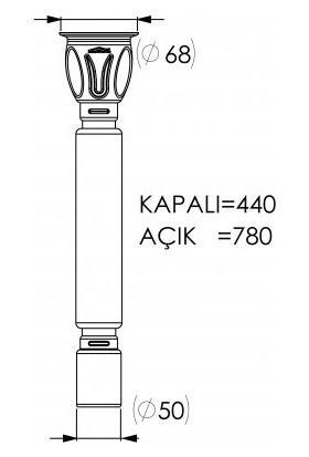 Luxwares Ø 50X70 50 mm Çıkışlı Körüklü Sifon