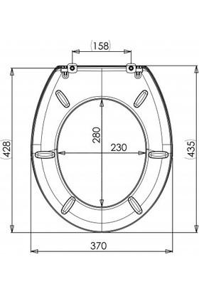Luxwares 435X370 Nice Klozet Kapağı