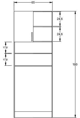 Ebatlandır DECO-1001 Çamaşır Makinesi Üstü Dolap (Uzun)