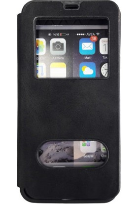 Erkan Samsung Galaxy A20 Siyah Kapaklı Gizli Mıknatıslı Magnum Kılıf