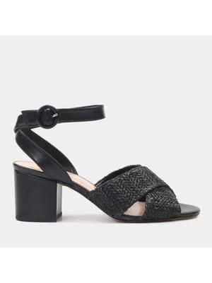 Hotiç 01SAH178310A100 Siyah Kadın Sandalet