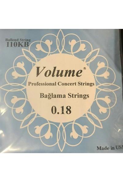 Volume Kısa Sap Boncuklu Bağlama Teli 0.18
