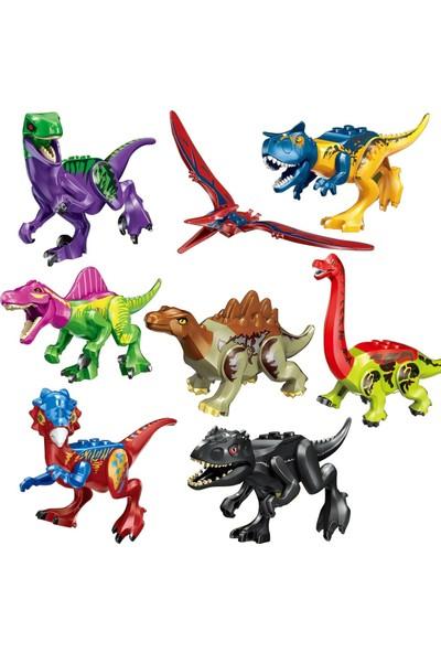 Xinh Jurassic World 8li Renkli Dinozor Dev Mini Figür Seti Yeni St-20