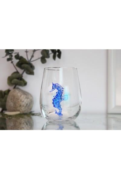 Adamodart Denizatı ve Denizyıldızı Figürlü 2'li Su Bardağı