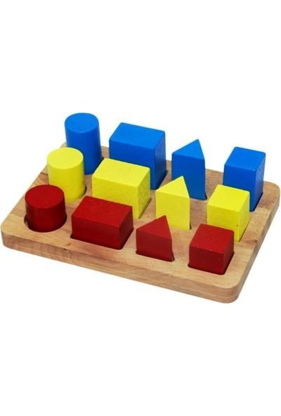 Onyıl Oyuncak Ahşap Geometrik Büyükten Küçüğüe Sıralama
