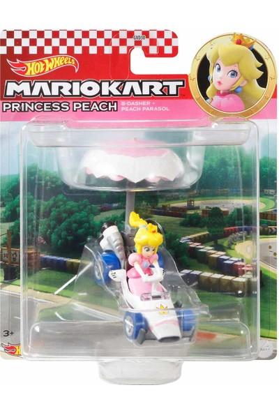 Hotwheels Hot Wheels Mario Kart Planörlü Araçlar GVD30 - Princess Peach