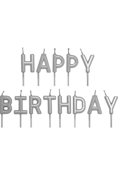 Happy Birthday Mum Gümüş Renk