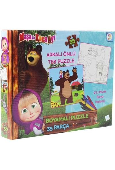 Laço Kids Maşa ile Koca Ayı Boyamalı Kutulu Puzzle/yapboz 35 Parça