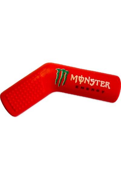 Knmaster Monster Motosiklet Evrensel Kırmızı Vites Çorabı Pedi