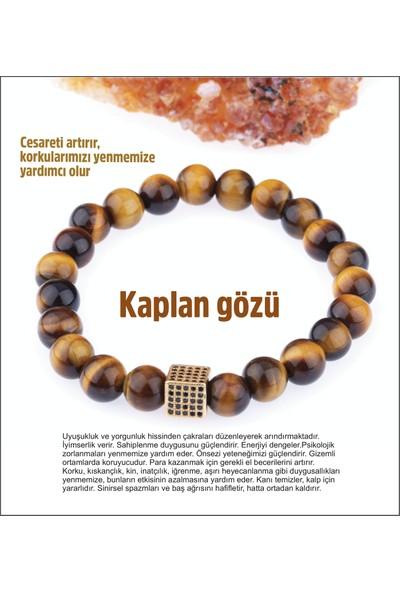 Osmanlı Doğal Taş Doğal Taş Bileklik - Kaplan Gözü 20-21CM
