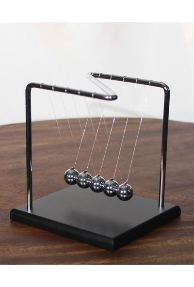 Tam İthalat Newton Çarpışan Denge Topları Newton Beşiği Dekoratif armağanlik